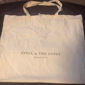 Spell & Gypsy Collective Fabric Tote Beach Bag New